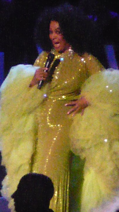 The Boss Ms. Ross posing in a Bob Mackie at her last concert tour!
