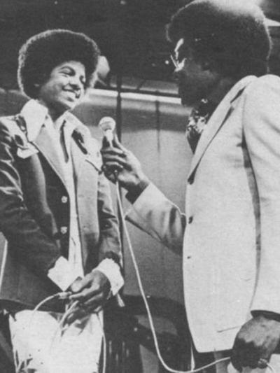 Don Cornelius and Michael Jackson