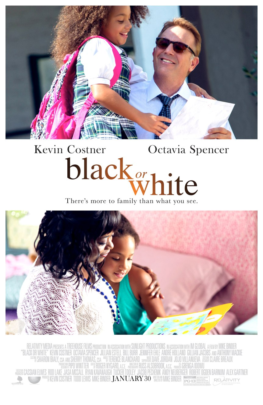 GIVEAWAY: advanced screening for 'Black or White' on January, 27 (Philly, PA)
