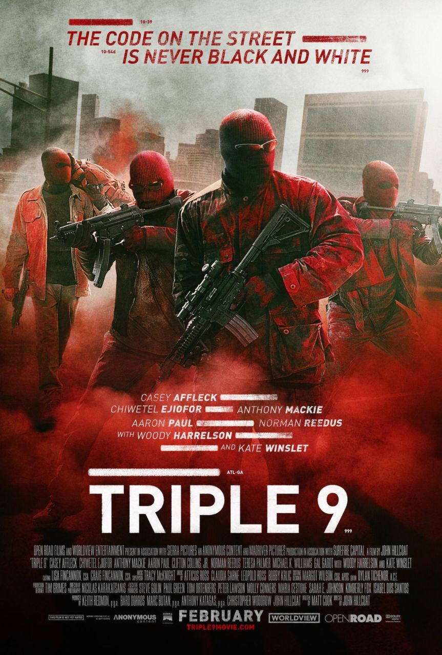GIVEAWAY: advanced screening of TRIPLE 9 Tuesday, February 23 (Philly, PA)