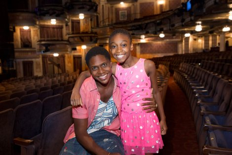"HAIRSPRAY LIVE! -- ""Casting reveal for Seaweed and Little Inez in New York City"" -- Pictured: (l-r) Ephraim Sykes, ""Seaweed"", Shahadi Wright Joseph, ""Little Inez"" -- (Photo by: Heidi Gutman/NBC)"