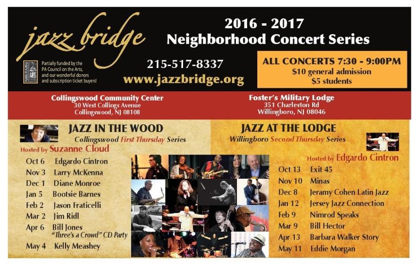 MMT Recommends: JAZZ BRIDGE 2016-17 Neighborhood ConcertSeries