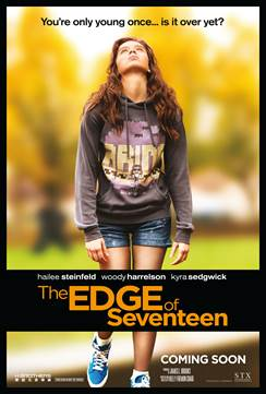 GIVEAWAY: THE EDGE OF SEVENTEEN advanced screening on Thursday, November 10 (Philly, PA)