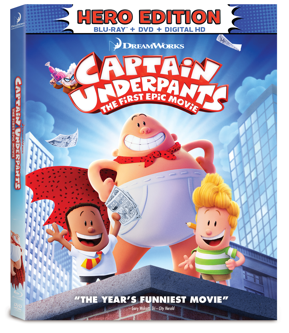 GIVEAWAY: Blu-Ray/DVD/Digital HD combo for CAPTAIN UNDERPANTS: THE FIRST EPIC MOVIE