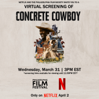 GIVEAWAY: passes to the virtual premiere of CONCRETE COWBOY
